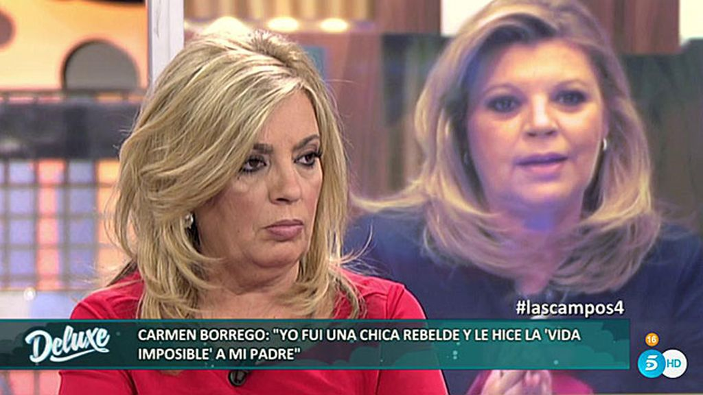 Terelu habla sobre el suicidio de su padre ante el descontento de Carmen Borrego
