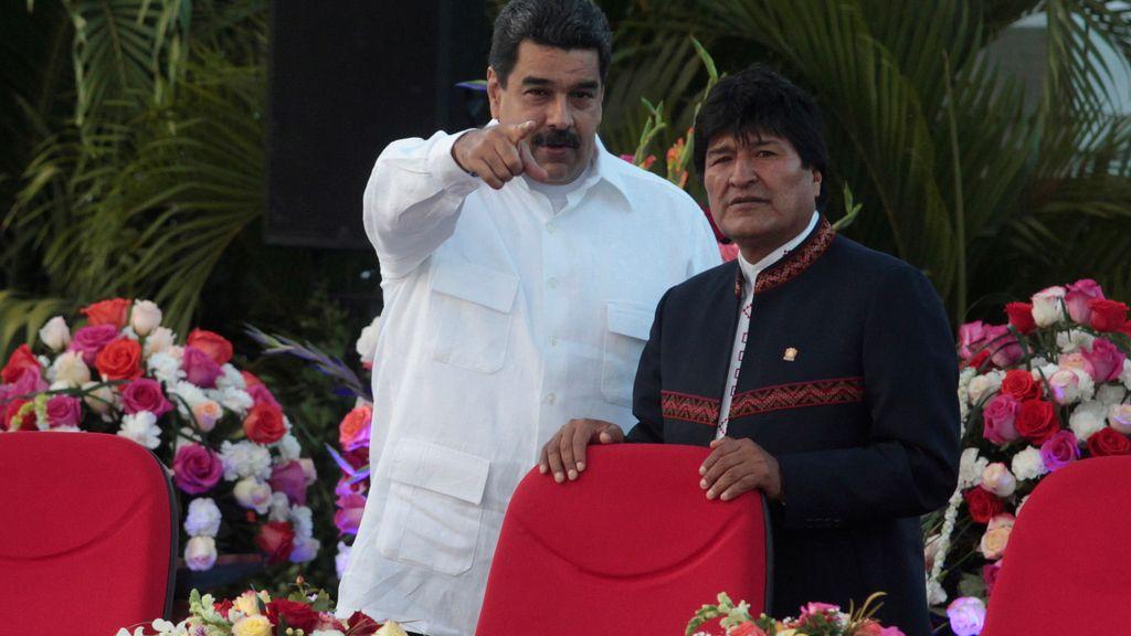 Maduro y Morales en los festejos presidenciales de Ortega en Nicaragua
