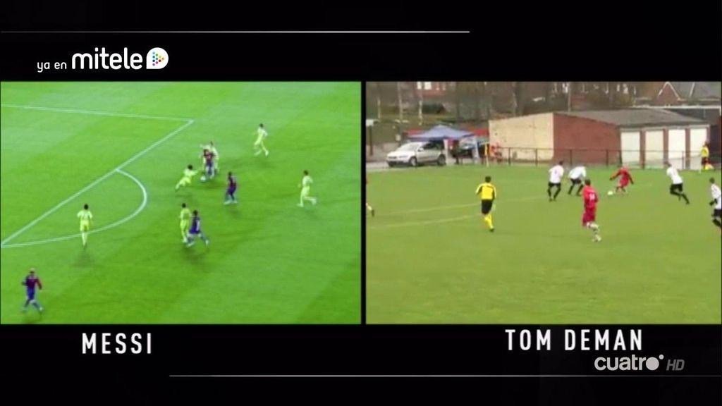 ¡Mezcla de Messi y de Zidane! Regatea a todos, hace una ruleta y marca de primeras
