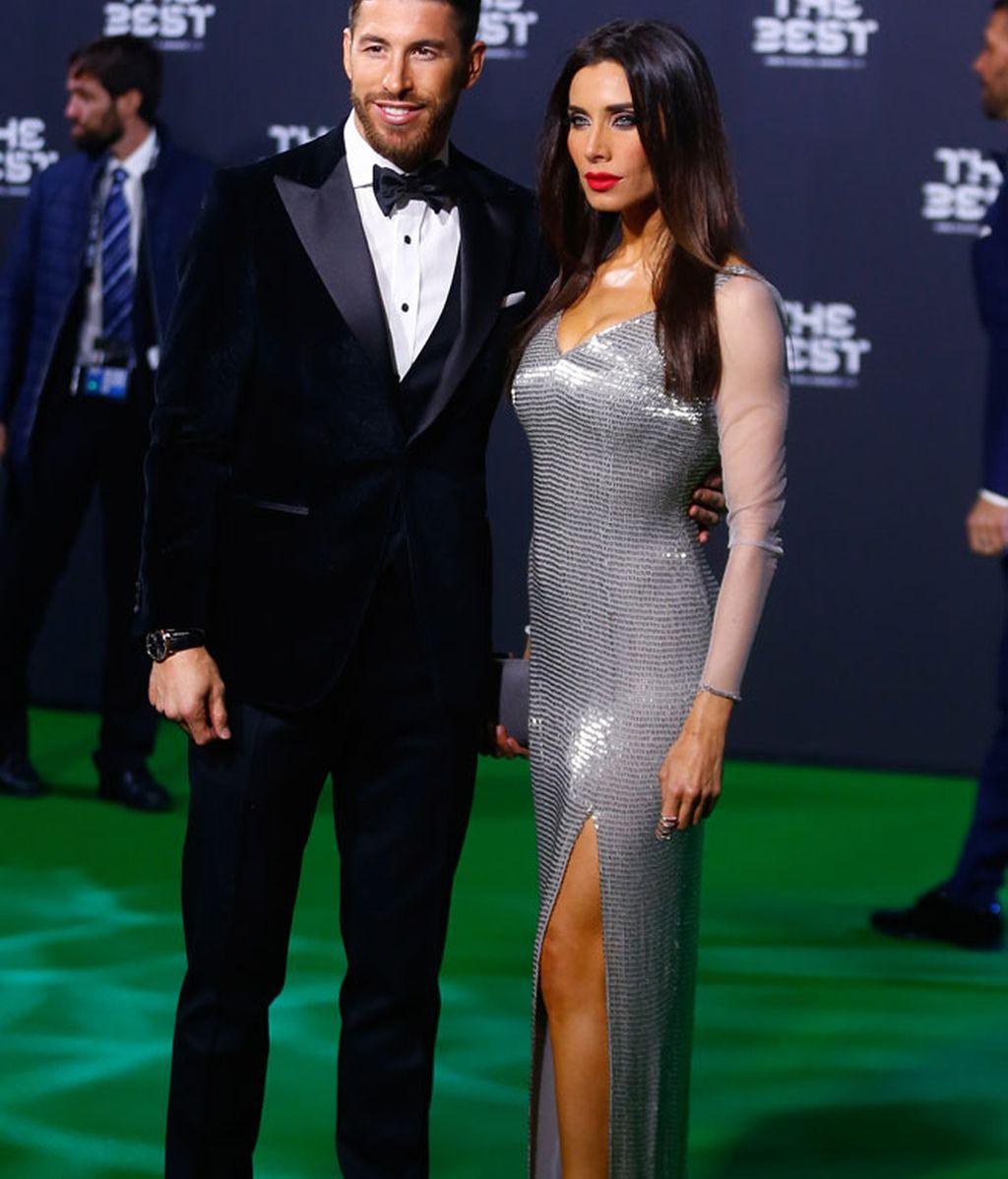 Sergio Ramos y Pilar Rubio, con un impresionante vestido plateado