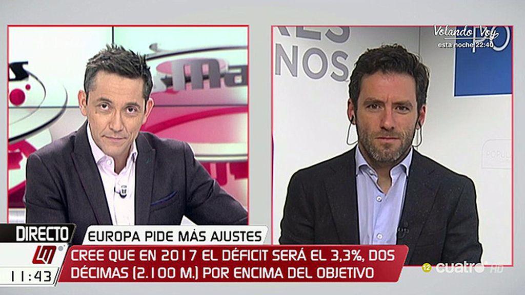 """¿Habrá subida de impuestos? Borja Sémper responde: """"Espero que no, confío en que las medidas vayan por otro camino"""""""