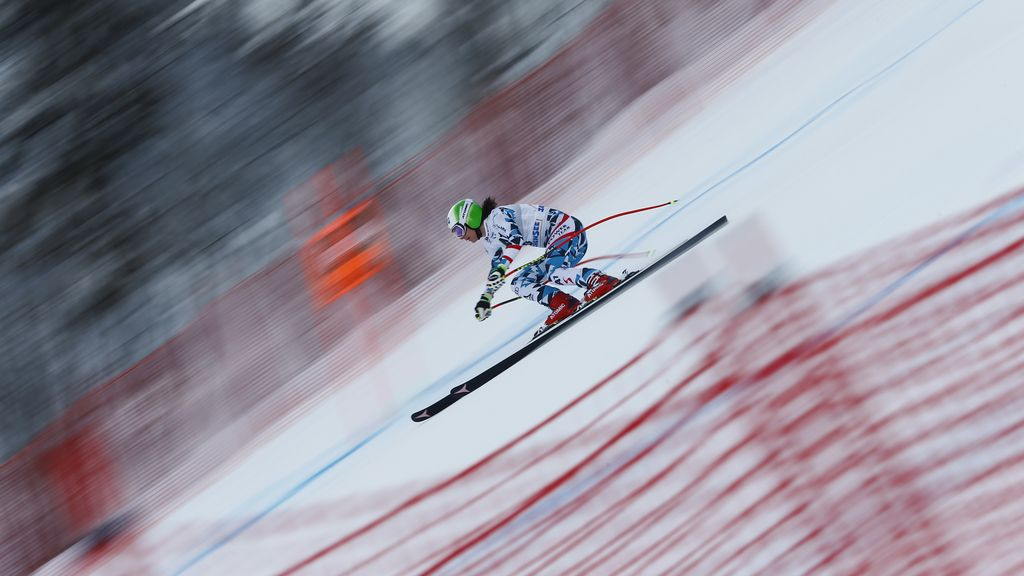 El espectáculo de volar sobre los esquís