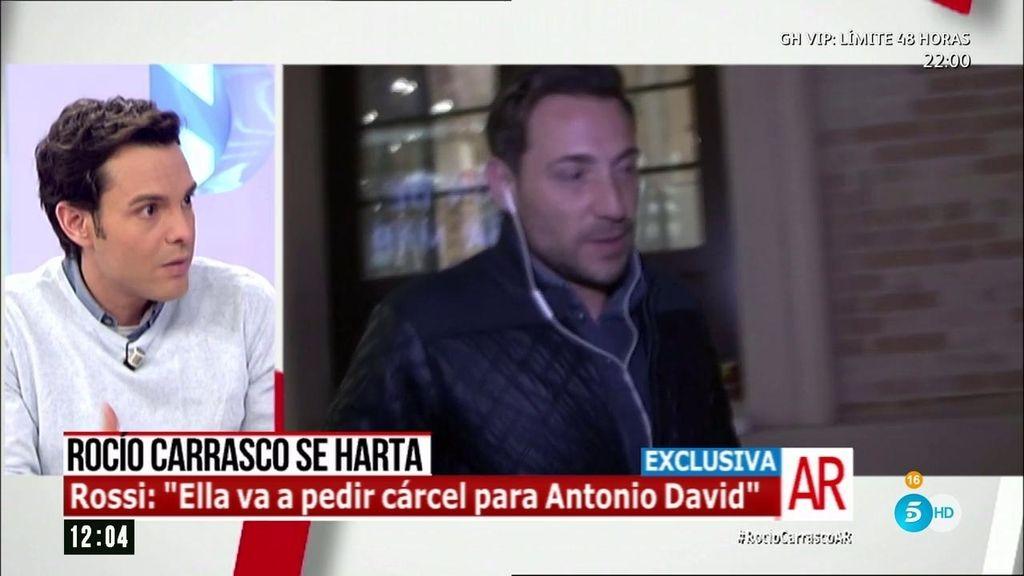 """Rossi: """"Rocío Carrasco pide cárcel para Antonio David"""""""