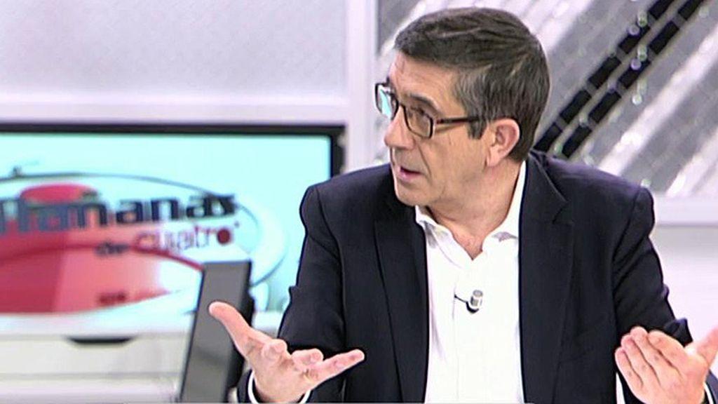 """Patxi López: """"No quiero desmontar nada, no me gustan estas etiquetas de Sanchismo, Susanismo o Patxismo"""""""