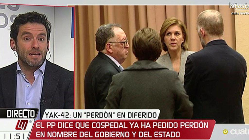 """Sémper, del perdón de Cospedal: """"Entiendo que no hace estas declaraciones sin el visto bueno del presidente"""""""