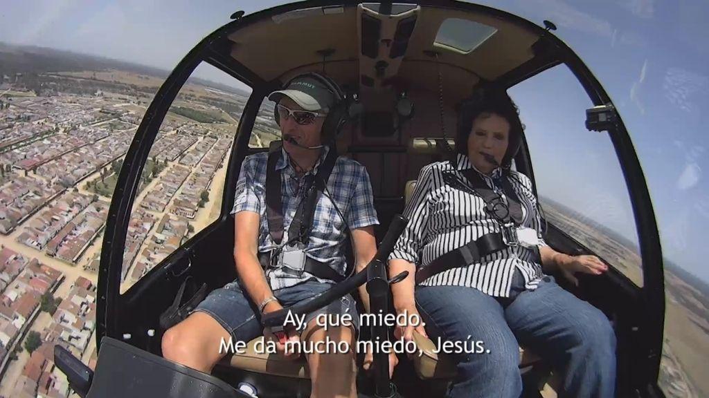 La odisea en helicóptero de Isabel, la abuela vaquera de El Rocío