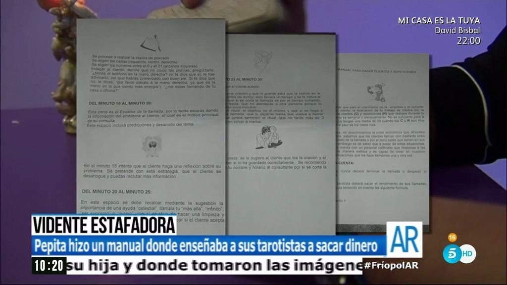 """Pepita Villalonga hizo un """"dossier"""" para enseñar a sus tarotistas a sacar dinero"""