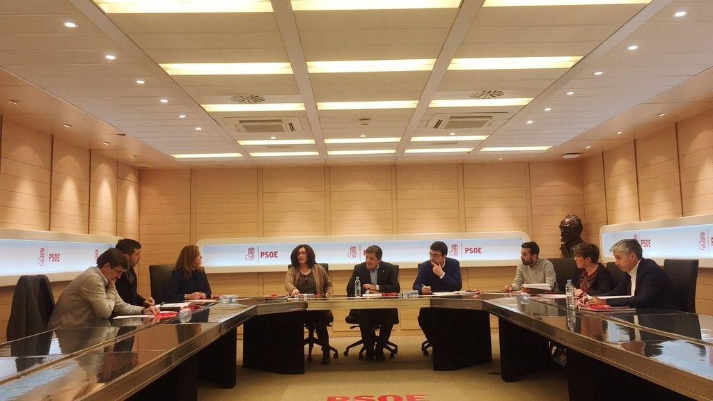 Reunión de la Comisión Gestora previa al próximo Comité Federal del PSOE