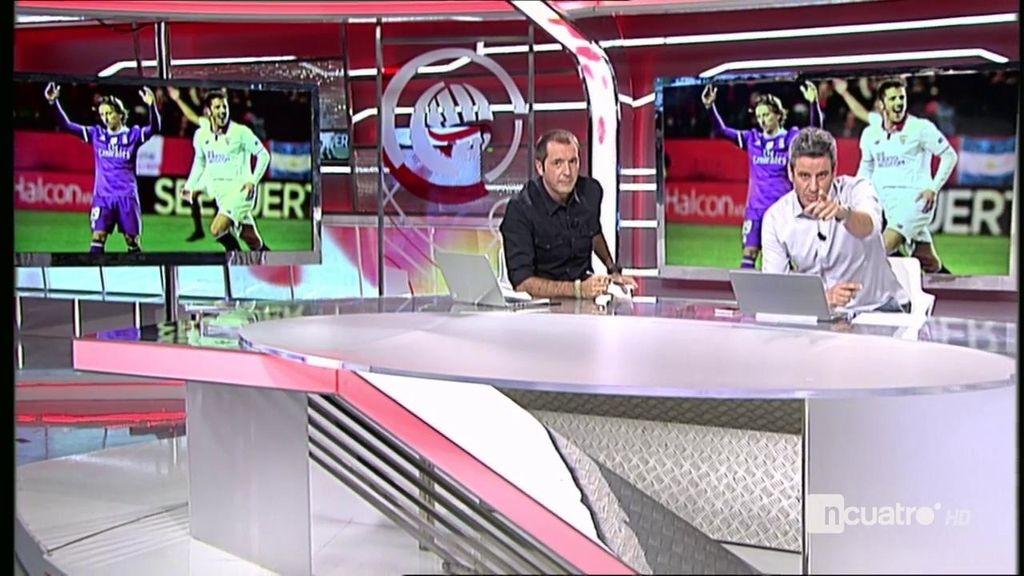 Modric pide cabeza a Sergio Ramos en el momento que Cristiano iba a tirar el penalti