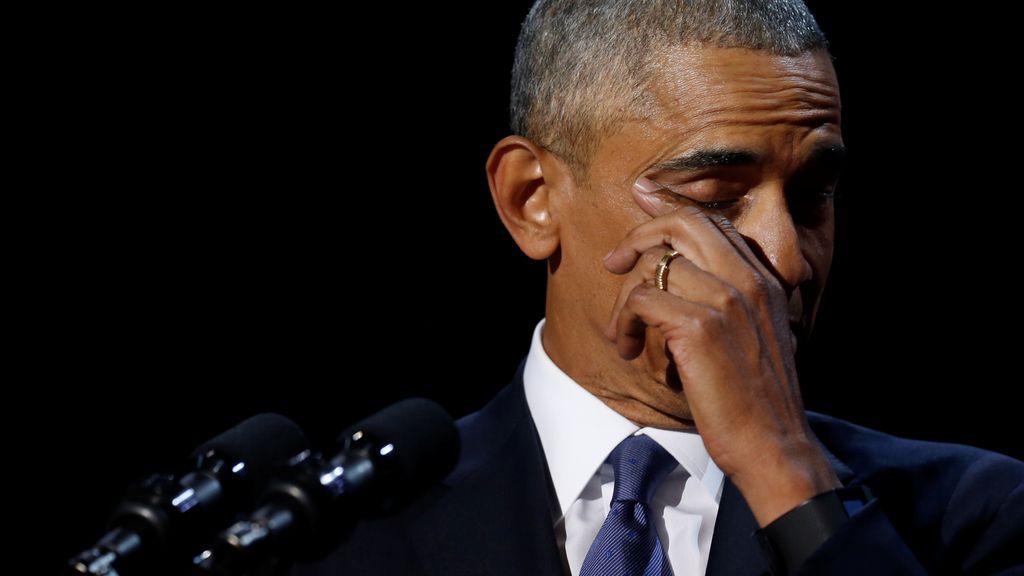 Obama se despide con lágrimas