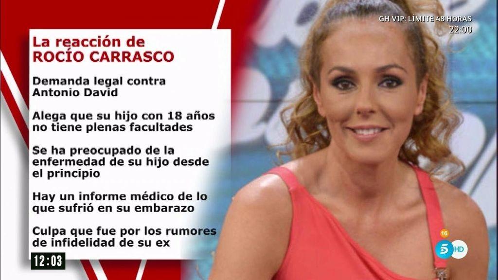 Rocio Carrasco se harta: las causas de su demanda a Antonio David