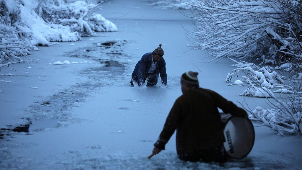 Sobre el hielo en Hungría