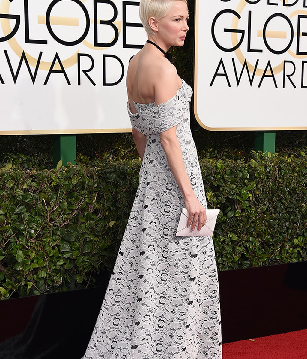 Michelle Williams con vestido de Louis Vuitton