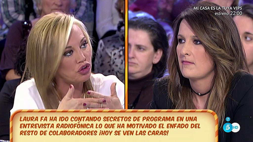"""Belén Esteban: """"Laura Fa me ha pedido perdón, la he escuchado y ya está"""""""