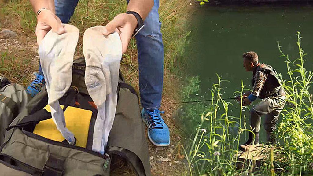 Calcetines, botas... Así se prepara Calleja para la búsqueda del salmón en el Sella