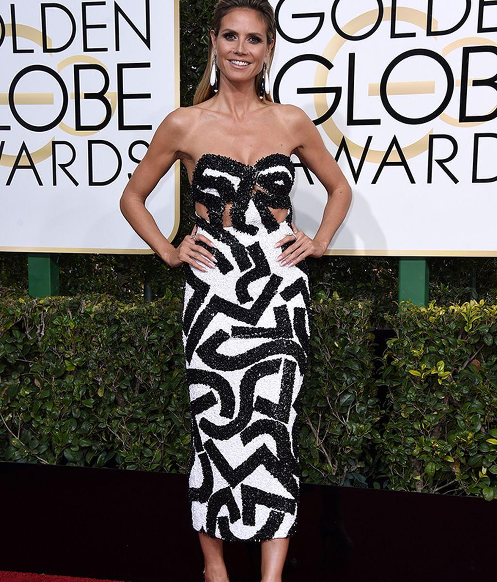 Heidi Klum con vestido de J Mendel