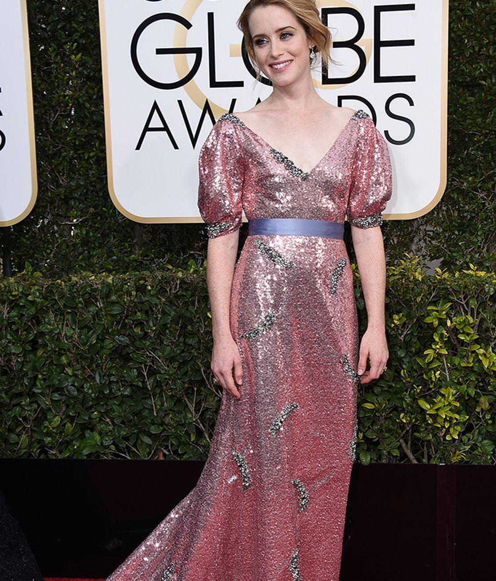 Claire Foy vestida de Erdem