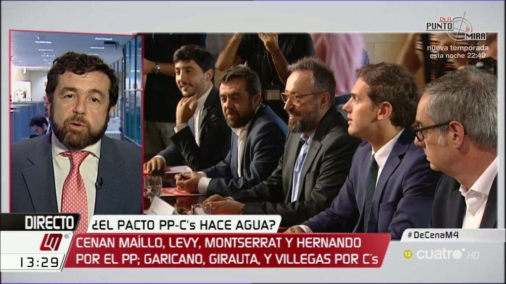 """Miguel Gutiérrez, de la cena PP-C's: """"Se hablaron muchas cosas, pero no de pactos"""""""