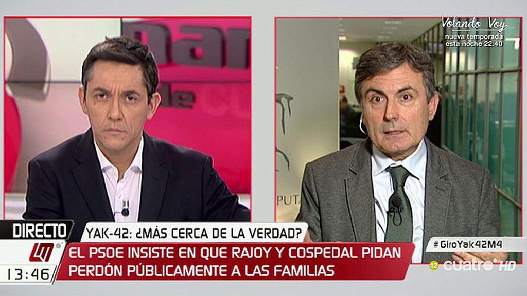"""Pedro Saura: """"Trillo no puede seguir siendo ni un minuto más embajador"""""""