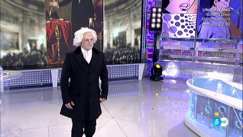 ¡George Washington en el plató de 'Sálvame'!