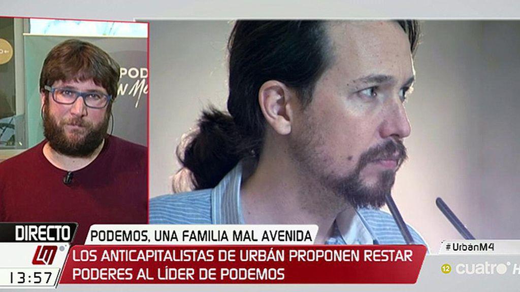 """Urbán: """"El secretario general en Podemos tiene demasiado poder, pero no solo el estatal, también los autonómicos"""""""