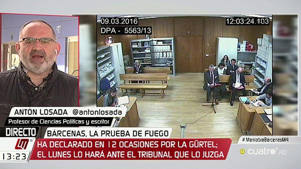 """Antón Losada, sobre Bárcenas: """"Si no hay pacto, lo parece"""""""