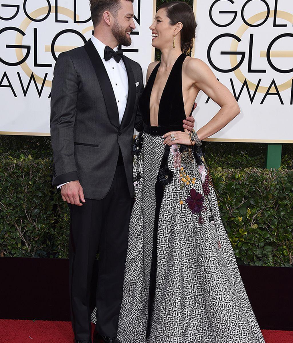 Posado de Justin Timberlake y Jessica Biel