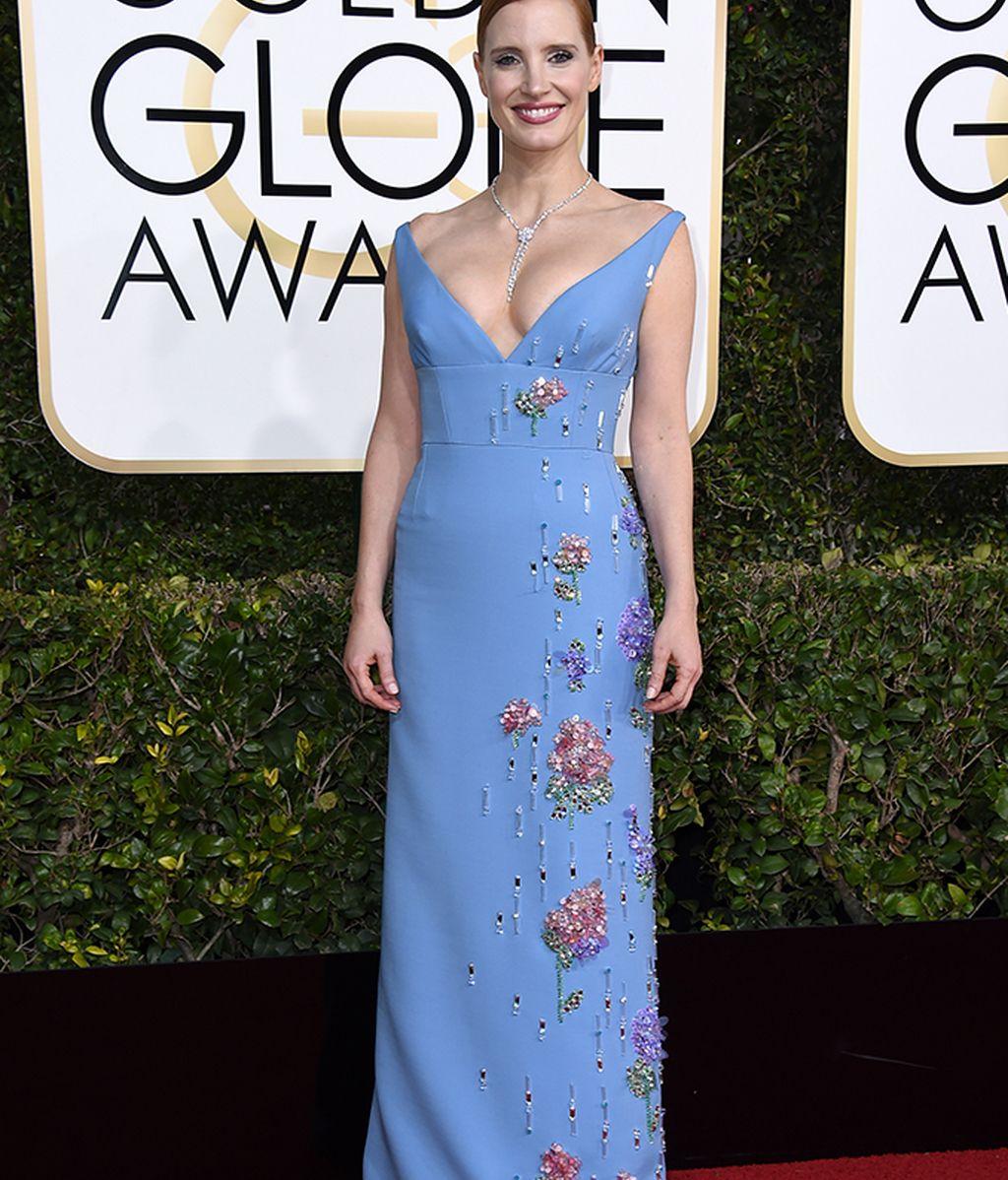 Jessica Chastain vestida de Prada