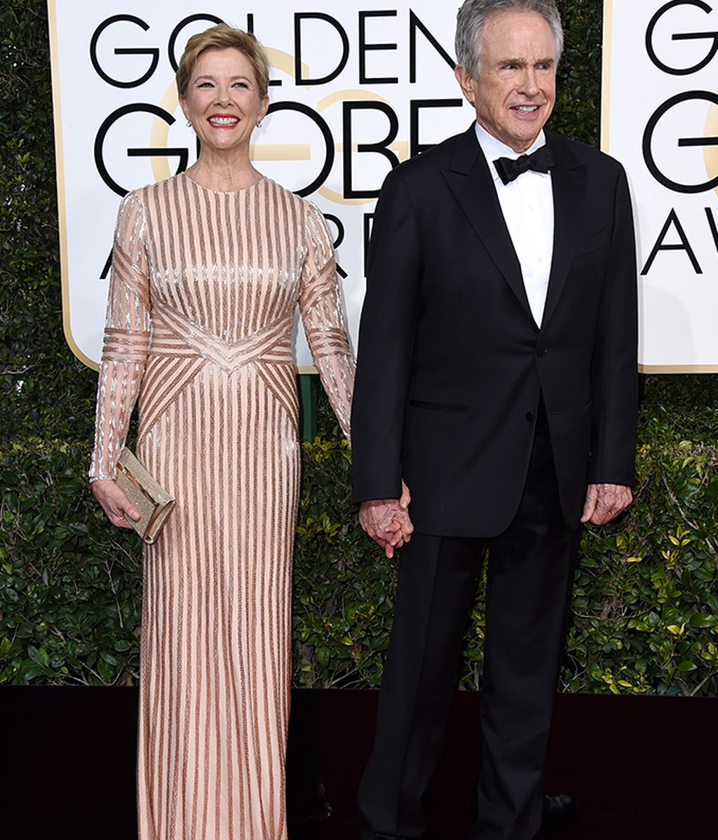 Posado de Annette Bening y Warren Beatty