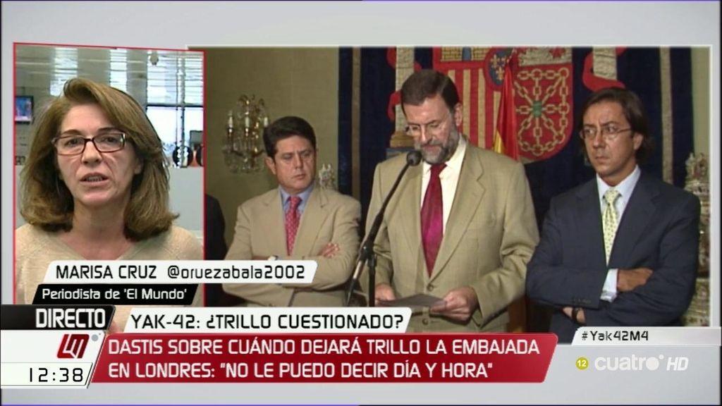 """Marisa Cruz: """"El Gobierno teme a Trillo por la numerosa información que posee"""""""