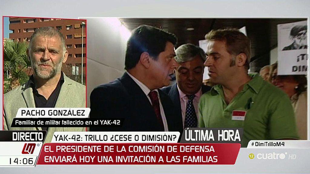 "Pacho González: ""Quien larga a Trillo es la verdad"""