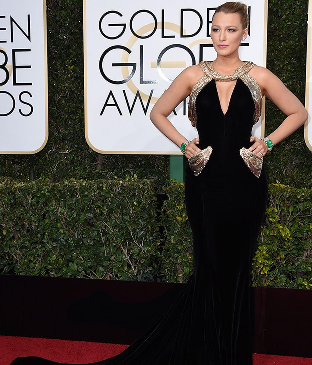 Blake Lively con vestido de Atelier Versace