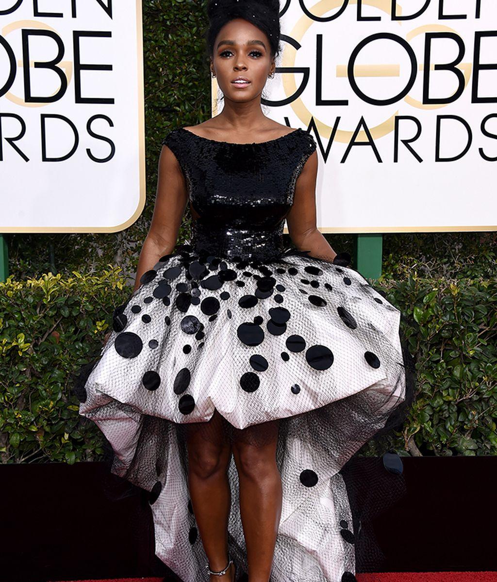 Janelle Monae con vestido de Armani