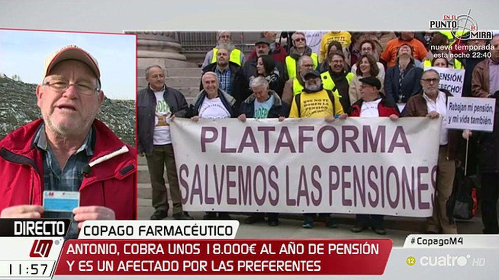 """A. Hernández, pensionista: """"Tenemos unos derechos adquiridos por habernos dejado la piel para mantener España"""""""