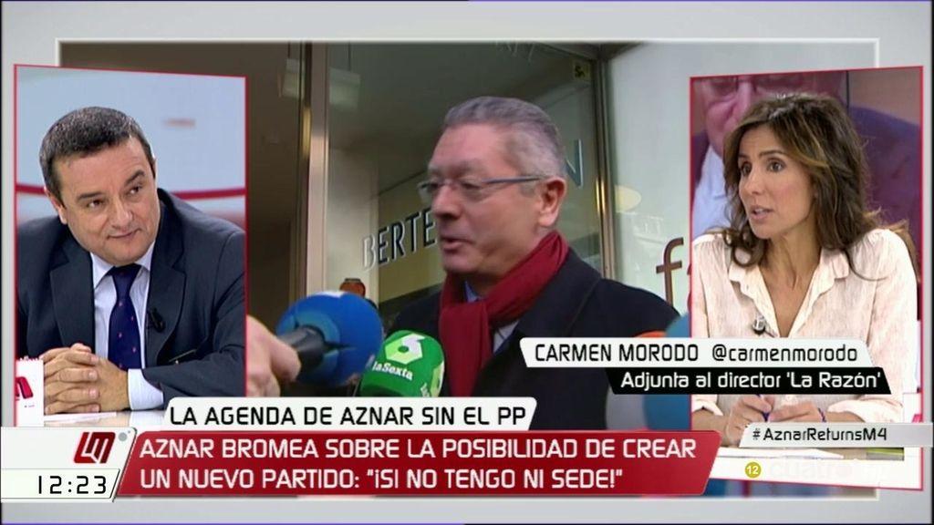 """Carmen Morodo: """"Aznar lo que quiere es influir en la derecha y molestar al PP"""""""