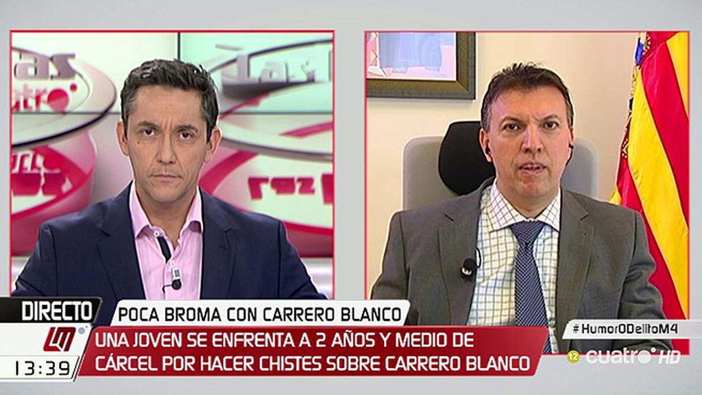 """J. Bosch, magistrado: """"Castigar con prisión chistes sobre Carrero es volver a tiempos extremadamente autoritarios"""""""