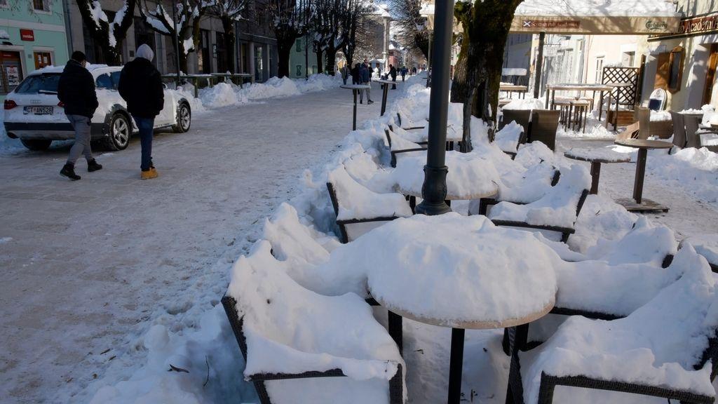 Ola de frío en Montenegro