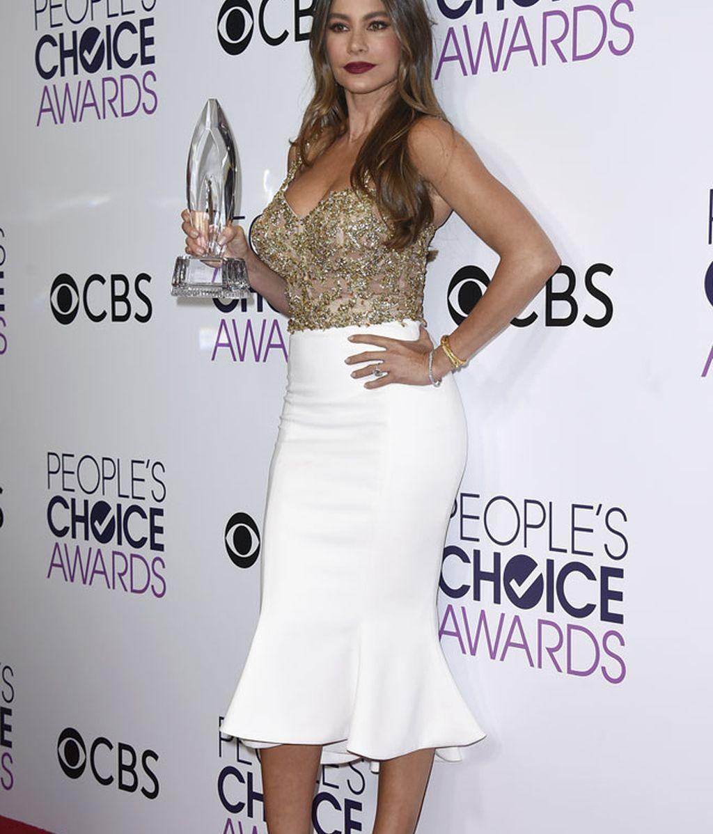Sofía Vergara recogió el premio a mejor actriz de comedia en TV