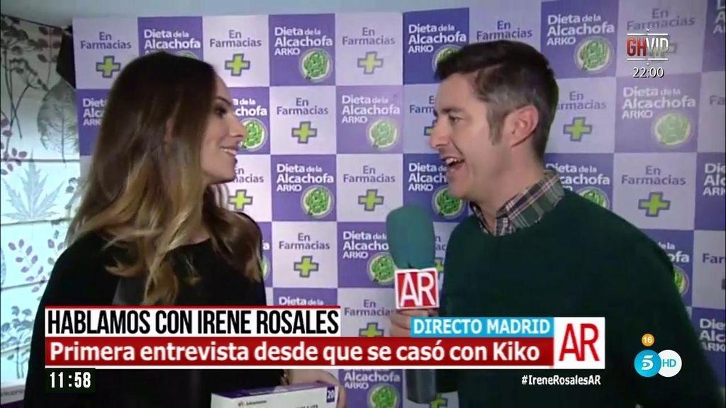 """Irene Rosales: """"Kiko está muy calmado, pero no es buen amo de casa"""""""