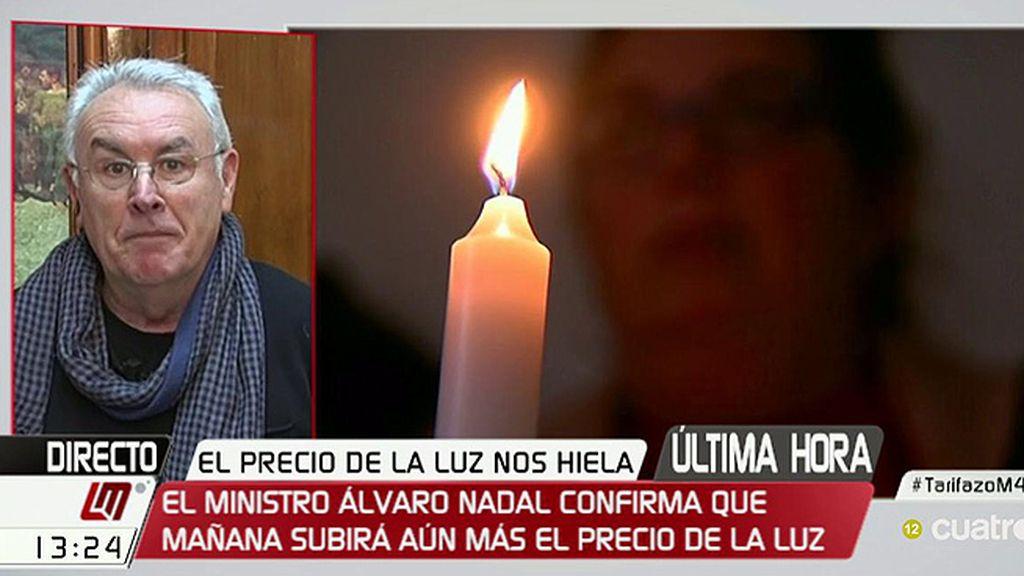 """Cayo Lara: """"Se ha puesto el aparato del Estado al servicio del sector de la energía"""""""
