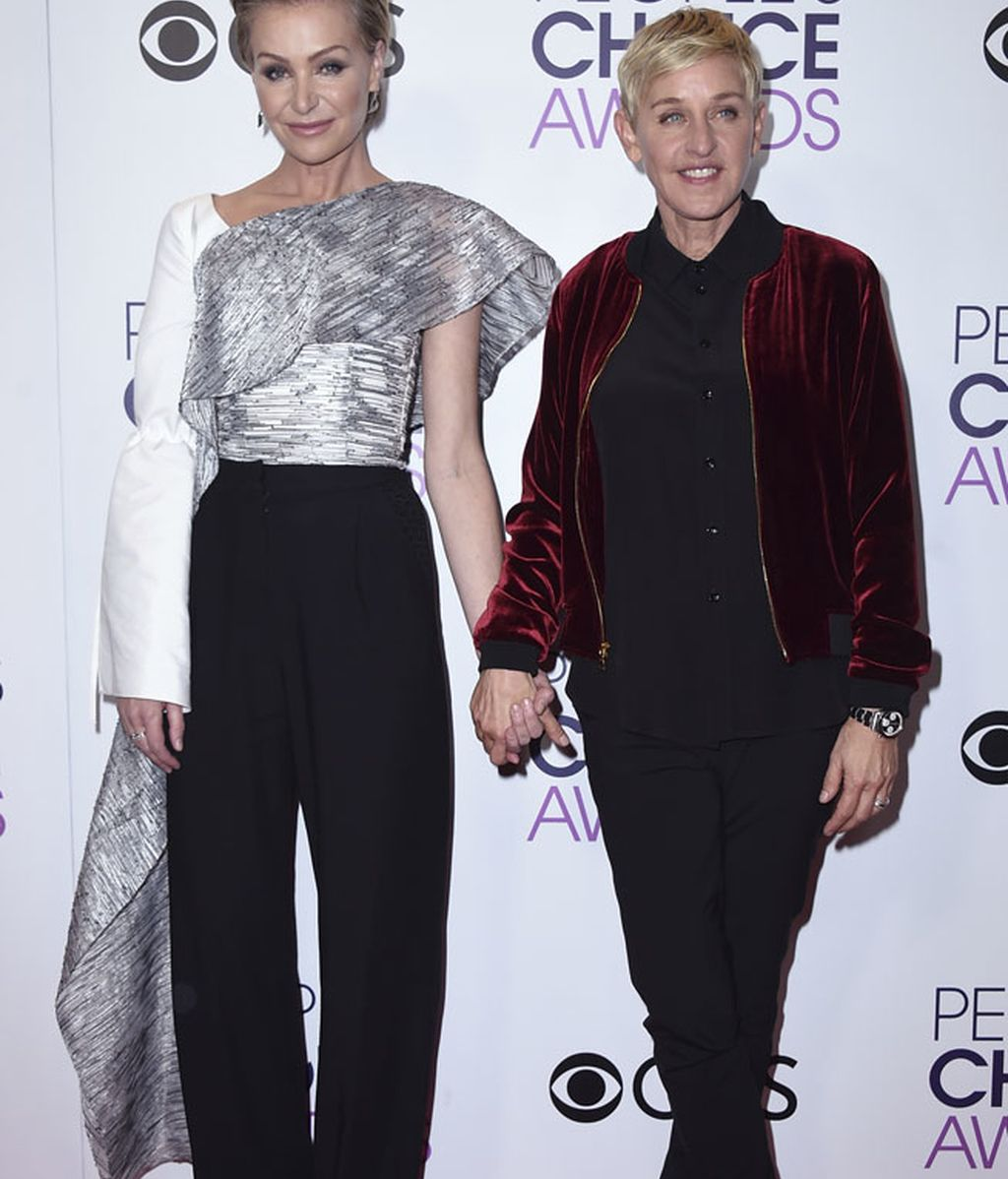 Ellen DeGeneres, acompañada de Portia de Rossi, fue la triunfadora de la noche