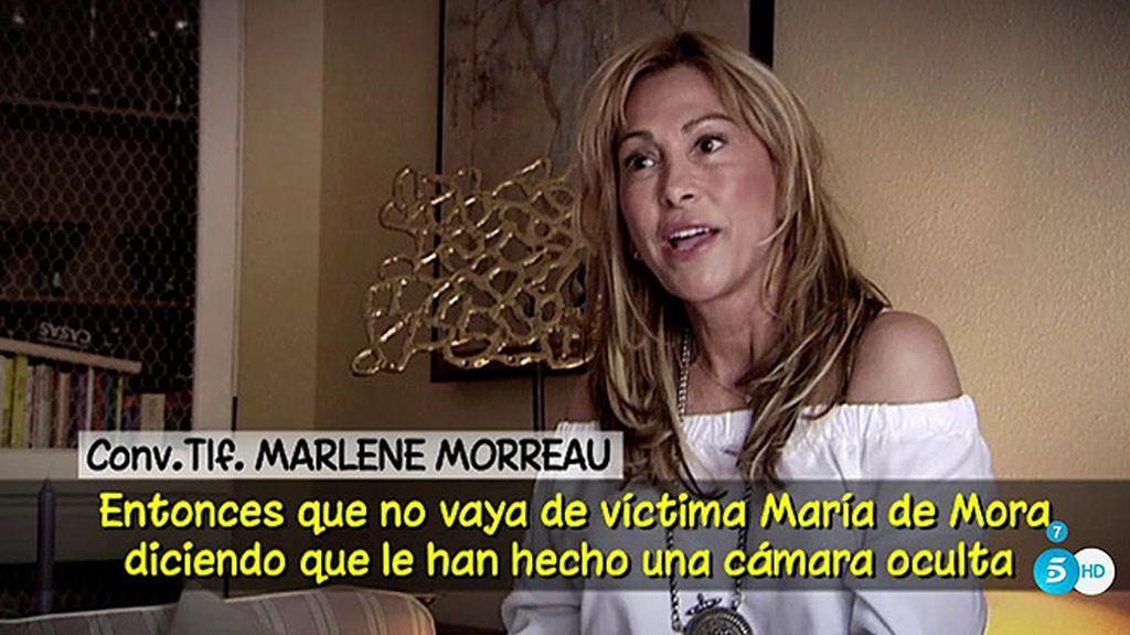 """M. Mourreau: """"Que María de Mora no vaya de víctima con la cámara oculta, lo montó ella"""""""