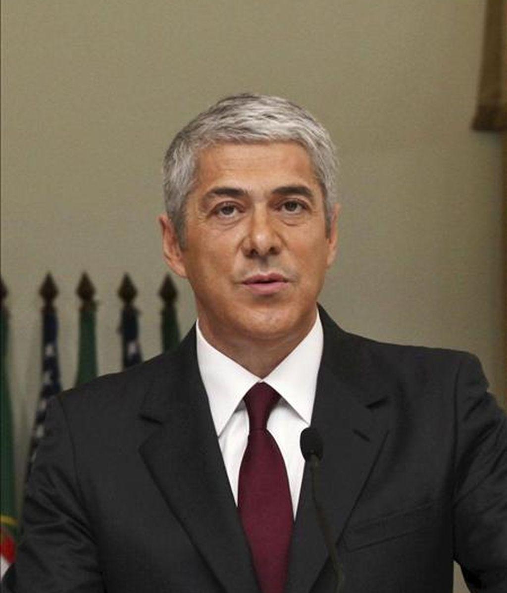 En la imagen, el primer ministro portugués, José Sócrates. EFE/Archivo