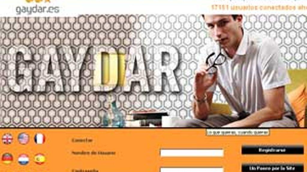 'Gaydar', 'gayromeo', 'chueca.com' o 'bakala' son algunas de las páginas más utilizadas por los homosexuales españoles. FOTO: Gaydar.es