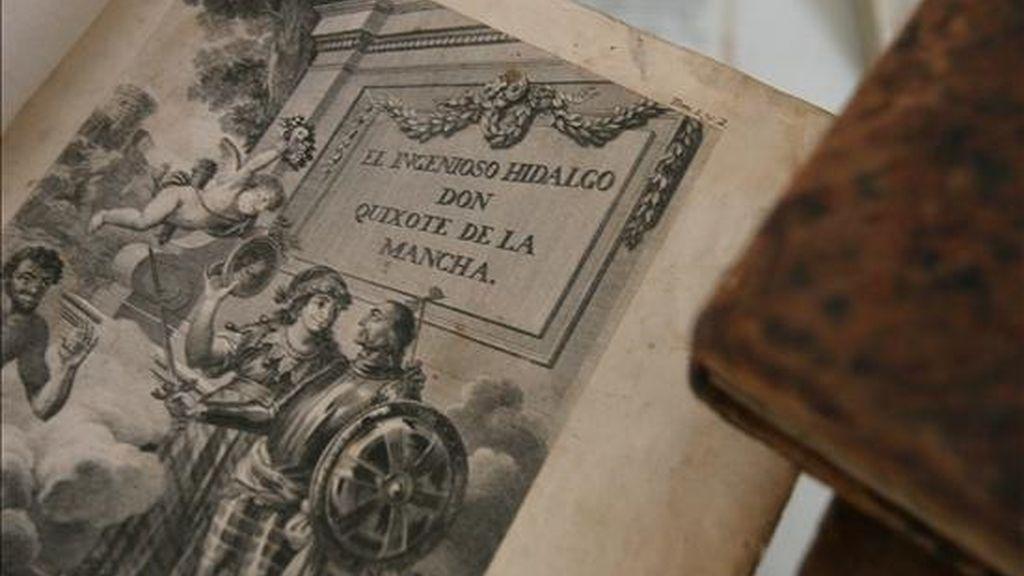 Imagen de una edición del Quijote de Cervantes. EFE/Archivo