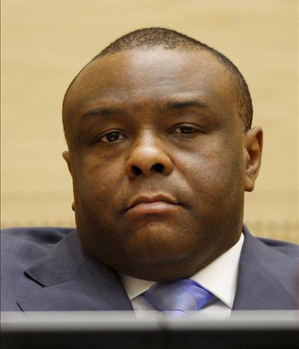 El ex vicepresidente congolés Jean-Pierre Bemba, ante la Corte Penal Internacional. EFE/Archivo