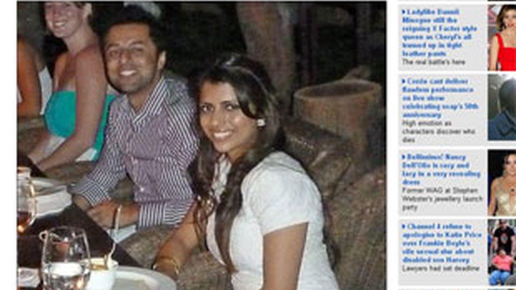 La pareja en la última imagen antes del terrible asesinato. Foto: Daily Mail