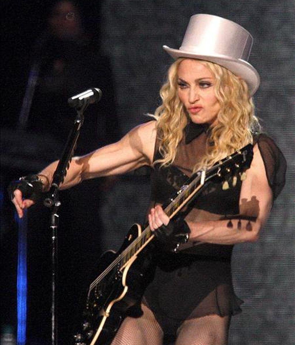 La cantante estadounidense Madonna durante un concierto en Viena (Austria). EFE/Archivo