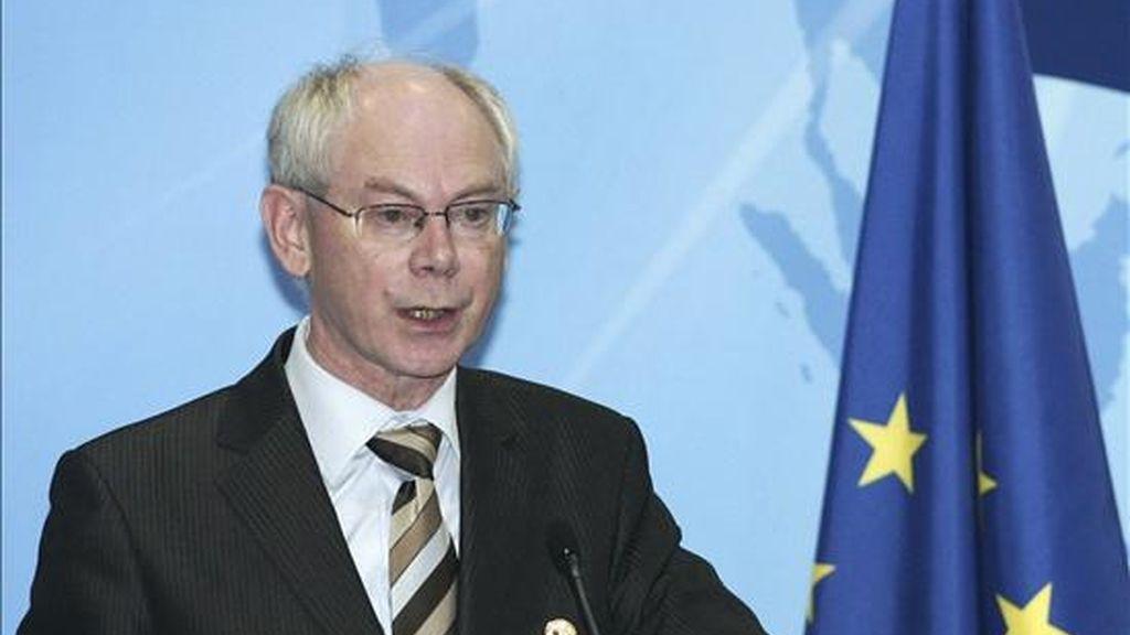 El presidente del Consejo Europeo, Herman Van Rompuy. EFE/Archivo