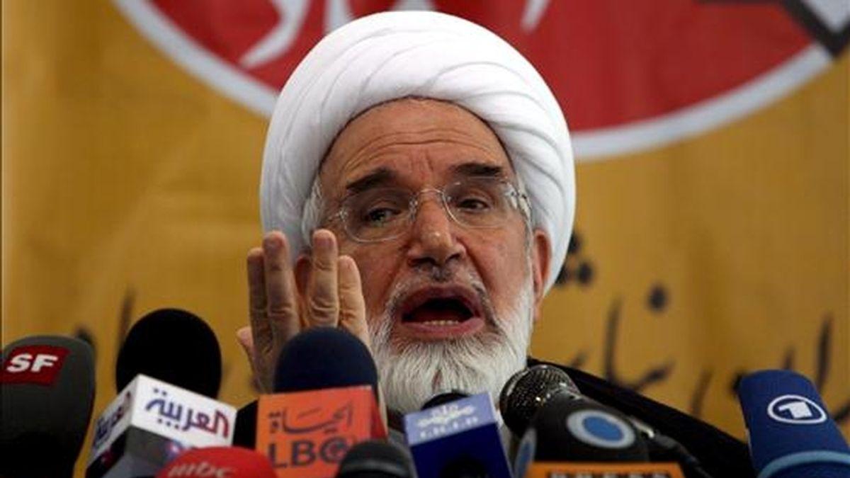 El candidato reformista a la presidencia iraní, Mehdi Karrubi. EFE/Archivo